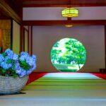 6月の干菓子は艶干し錦玉の紫陽花編